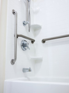 Disabled Handicapped Shower with Grab Bars